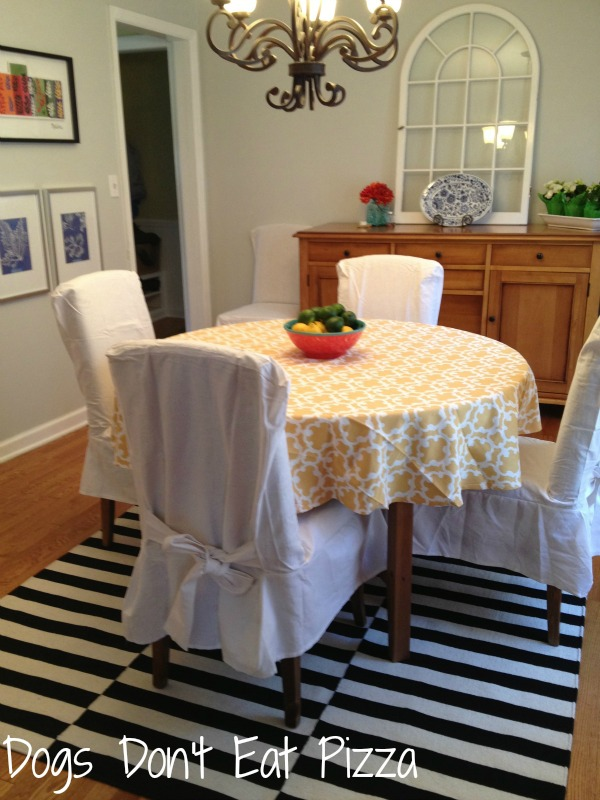 Both the table and rug are from IKEA - thediybungalow.com