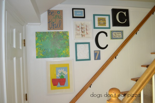 stairwell-gallery-wall-finished - Dogs Don't Eat Pizza
