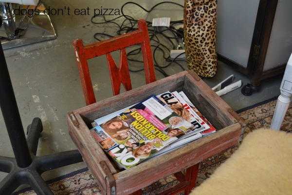 vintage-chair-and-coke-crate-magazines - Dogs Don't Eat Pizza