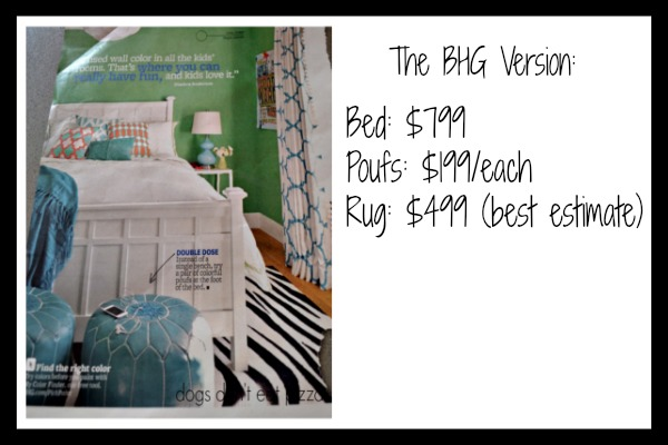 The prices for the magazine version before the bedroom redo on a budget - thediybungalow.com