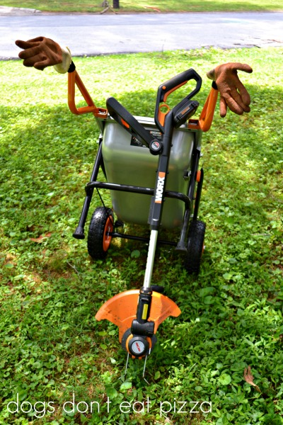 WORX-cart-edger - review - Dogs Don't Eat Pizza
