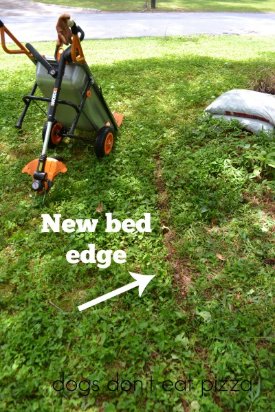 WORX-edger-bed-edge - review - Dogs Don't Eat Pizza