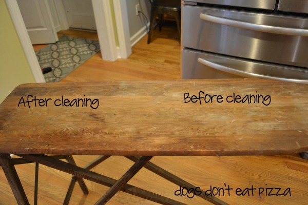 antique-wood-ironing-board - cleaned - Dogs Don't Eat Pizza