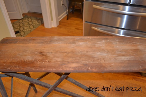 antique-wood-ironing-board - top - Dogs Don't Eat Pizza