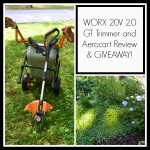 WORX Trimmer and Aerocart Review & Giveaway!