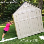 How to Move a Shed Down a Grassy Hill