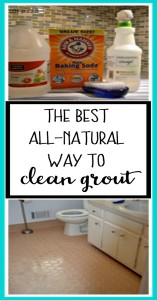 The best all-natural way to clean grout using products from your pantry - from thediybungalow.com