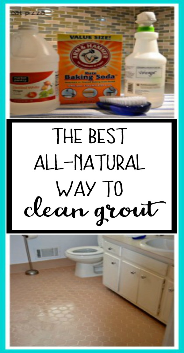 The best all-natural way to clean grout using products from your pantry - thediybungalow.com