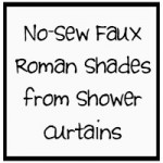 Faux Roman Shades from Shower Curtains
