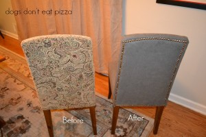How to reupholster parsons chairs - it's easy and you can do it in one afternoon! From thediybungalow.com