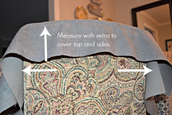 How to measure for reupholstering parsons chairs - thediybungalow.com