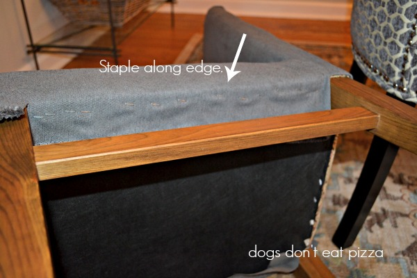 How to upholster the seat - how to reupholster parsons chairs - thediybungalow.com