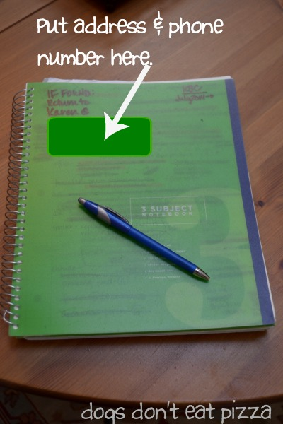 Using a spiral notebook is how to stay organized when moving - thediybungalow.com