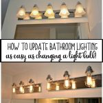 How to Update Bathroom Lighting (it's as easy as changing a lightbulb)