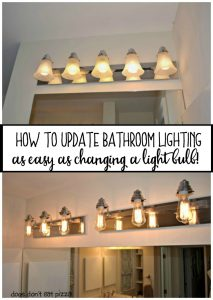 How to update bathroom lighting - as easy as changing a light bulb - from thediybungalow.com