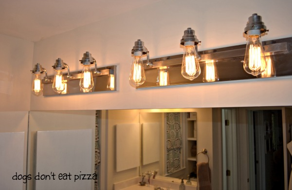 after vintage bulbs - side view bathroom fixture - Dogs Don't Eat Pizza