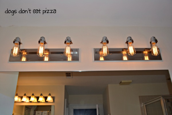 after with vintage bulbs - update bathroom lighting - thediybungalow.com