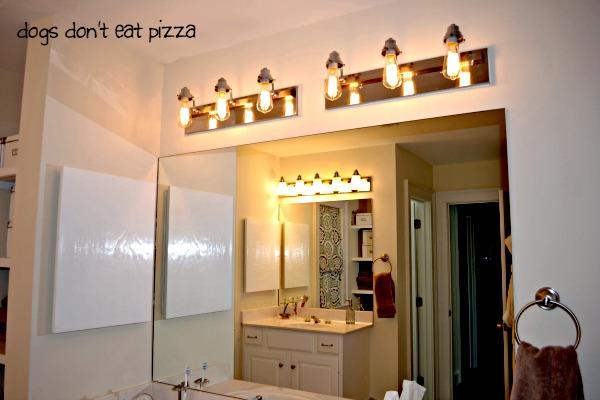 larger view vintage bulbs bathroom fixture - update bathroom lighting - thediybungalow.com