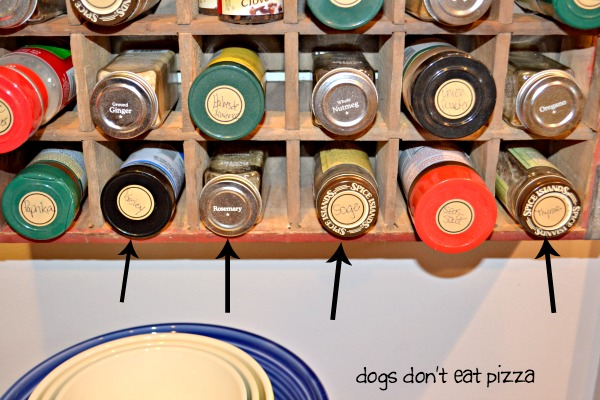 parsley sage rosemary and thyme - vintage Coke crate spice rack - thediybungalow.com