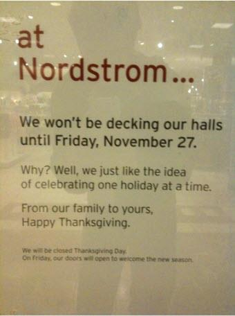 Nordstrom has it right - Thirty Days of Gratitude at thediybungalow.com