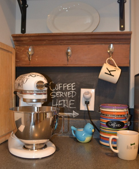 coffee station corner - kitchen - thediybungalow.com