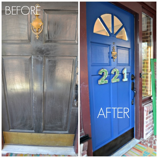 before and after front door - Modern Masters Calm - Dogs Don't Eat Pizza