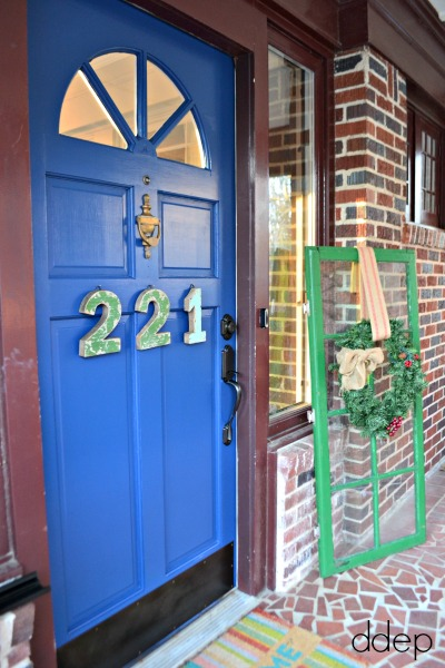 Home tour for the 1929 House - blue front door