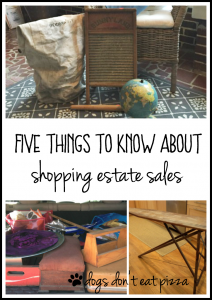 Five Things to Know About Shopping Estate Sales - Friday Five - thediybungalow.com