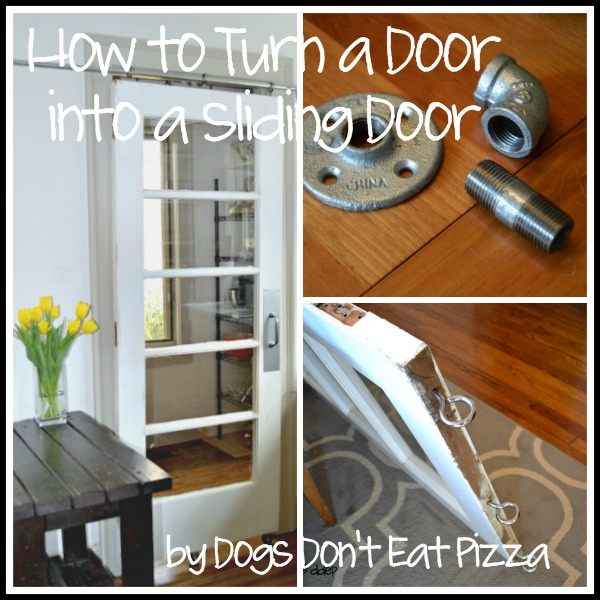How to turn a door into a sliding door - thediybungalow.com