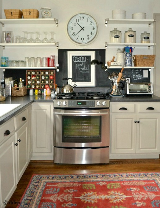 Featured at Apartment Therapy - finished kitchen reno on budget - stove side - Dogs Don't Eat Pizza