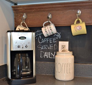 Here's how to create a coffee bar in your home, even if you're short on space - thediybungalow.com