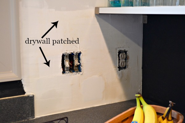 patched drywall - how to prepare walls for painting - Dogs Don't Eat Pizza