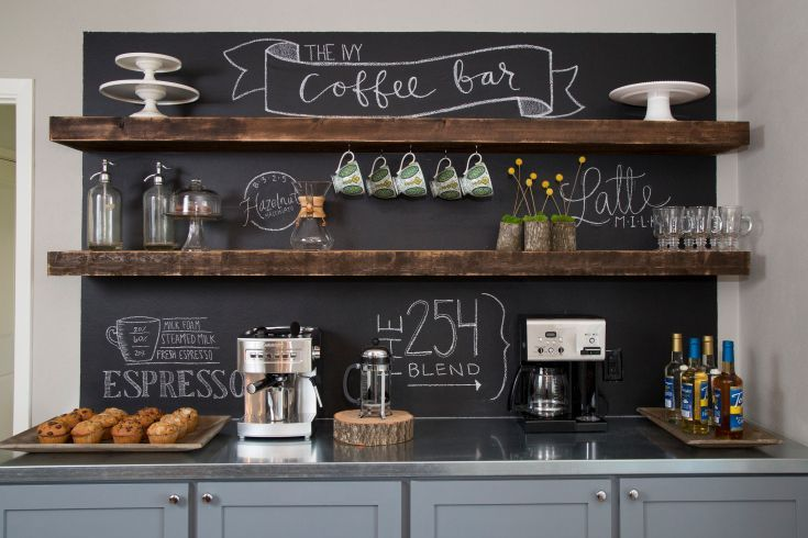Fixer Upper Coffee Bar - HGTV