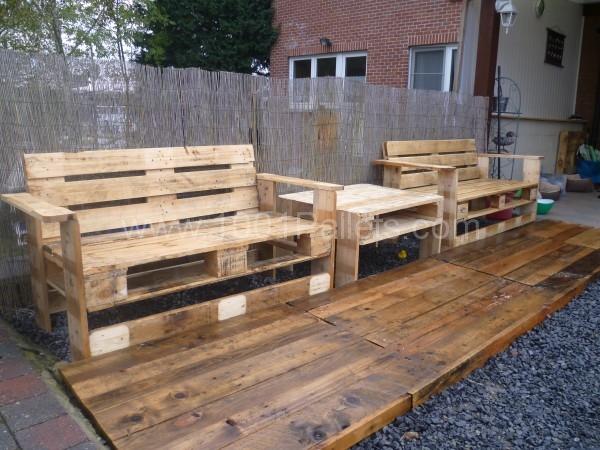 Pallets-garden-set