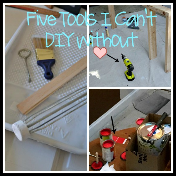 Today I'm sharing the five tools I can't DIY without - Dogs Don't Eat Pizza