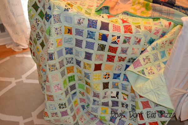 one quilt found in attic at Dogs Don't Eat Pizza