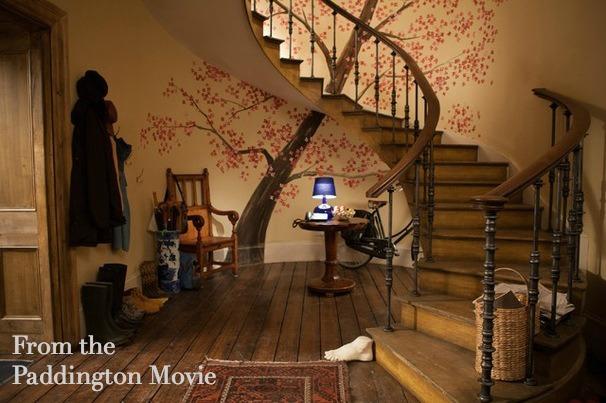 tree mural from Paddington movie