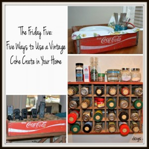 Five Ways to Use a Vintage Coke Crate - Five Ways to Use a Vintage Coke Crate - thediybungalow.com