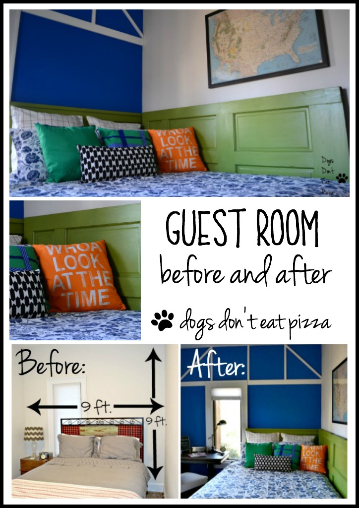Guest room before and after reveal - thediybungalow.com