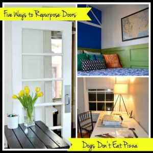 Five Ways to Repurpose Old Doors - thediybungalow.com