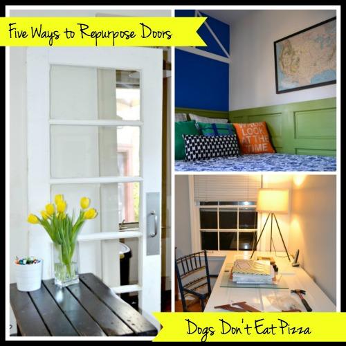 Five Ways to Repurpose Old Doors - thediybungalow.com