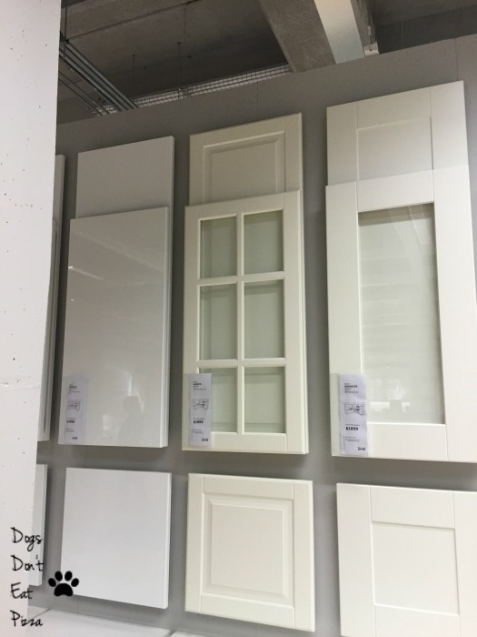 cabinet choices at IKEA - thediybungalow.com