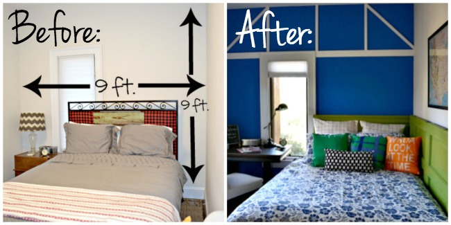 Guest room before and after - thediybungalow.com