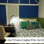 How to Build a Daybed from Old Doors