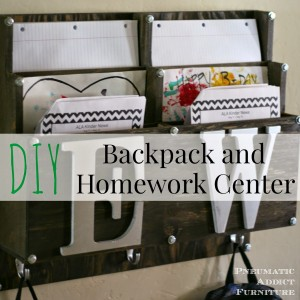 Learn to build this DIY backpack and homework center from Pneumatic Addict!