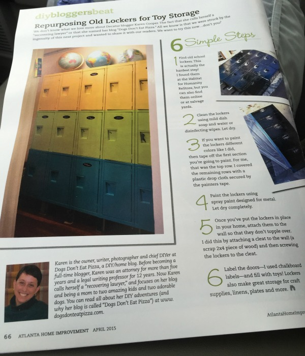 Featured in Atlanta Home Improvement Magazine - TheDIYBungalow.com