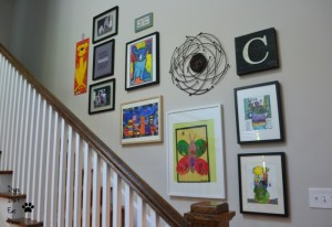 Gallery wall in new house - thediybungalow.com