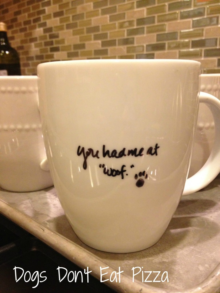 mug gift - five projects to DIY with a Sharpie - Dogs Don't Eat Pizza