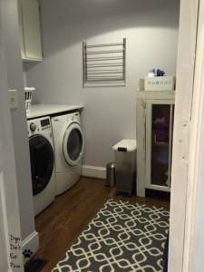 sneak peek of laundry room - Dogs Don't Eat Pizza