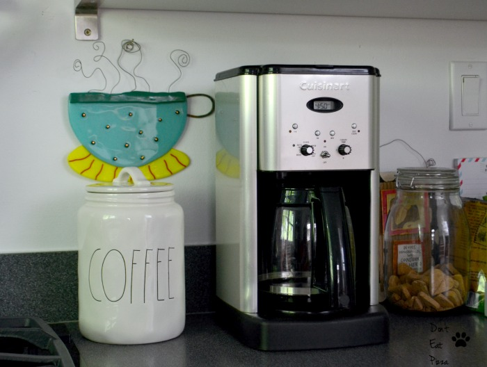The coffee station in our organized and efficient kitchen - thediybungalow.com